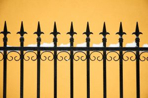 Wrought iron fencing in Austin